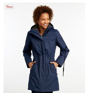 L.L. Bean Women's Winter Coat Jacket, x small blue